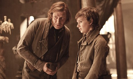 Great Expectations from great literature … empathy occurs in the spaces between characters, such as Joe and Pip, pictured here in the 2012 film adaptation. Photograph: Moviestore/Rex Features